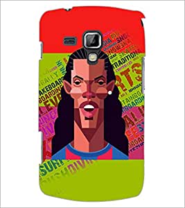 PrintDhaba Typogrphy D-5946 Back Case Cover for SAMSUNG GALAXY S DUOS S7562 (Multi-Coloured)