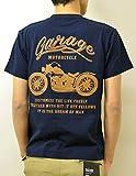 (ジーンズバグ)JEANSBUG MOTORCYCLE オリジナル バイカー プリント 半袖 Tシャツ メンズ レディース 大きいサイズ ST-MOTOR XL ネイビー(86)