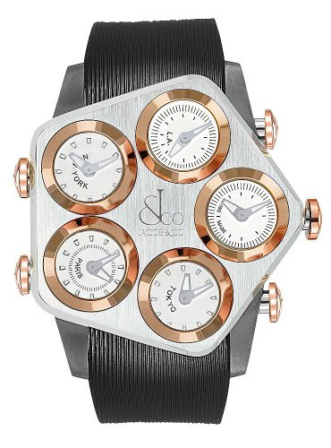Jacob & Co. Global GL2-19 Steel Case with Rose Gold Bezel 47 mm Watch