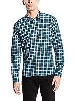 Otto Kern Camisa Hombre (Turquesa / Azul)