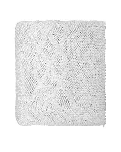 Lene Bjerre Mie Cotton Cable Knit Throw, White