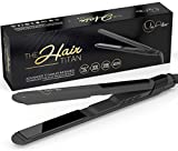 MIA Best Nano Titanium Hair Straightener - Salon Professional Flat Iron with EXTRA LONG Floating Plates for Instant CELEBRITY Styling Ability - Ultra Light Weight & Extra Slim Design - 2 Year Warranty