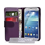 """Samsung Galaxy S4 Tasche Lila PU Leder Brieftasche H�llevon """"Yousave Accessories�"""""""