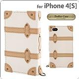 シンラクリエイション iPhone4/4S専用フラップタイプレザーケース Trolley Case ホワイト DCI-4TR-WH