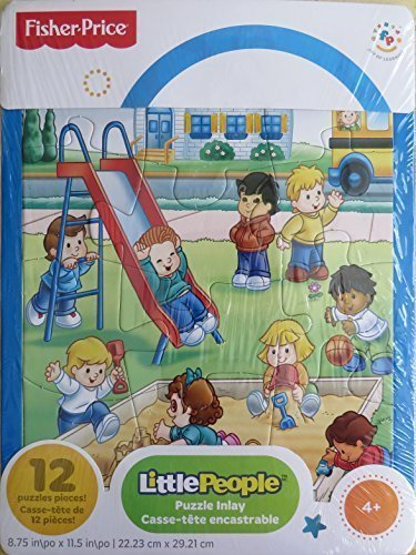 Fisher Price Little People Frame Jigsaw Puzzle - 12 Pieces - The Playground - 1