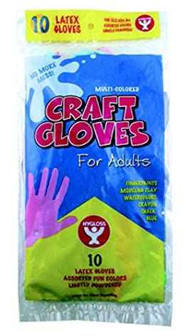 5 Pack HYGLOSS PRODUCTS INC. CRAFT GLOVES KIDS SIZE 100 PER BOX