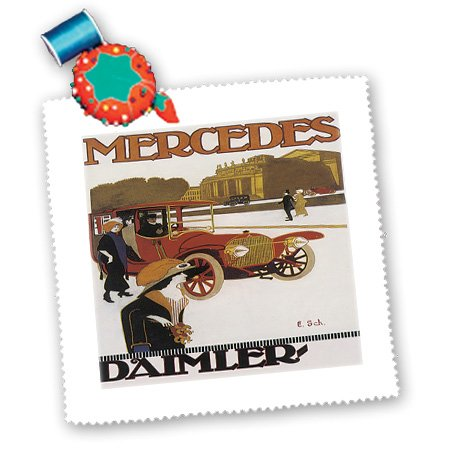 3drose-qs-129970-5-vintage-mercedes-daimler-automobile-advertising-poster-quilt-square-14-by-14-inch