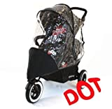 Baby Travel - Cubierta impermeable para carrito doble Phil and Teds Dot