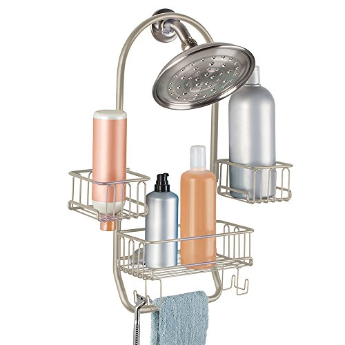 mdesign-swing-bathroom-shower-caddy-for-tall-shampoo-conditioner-soap-bottles-satin