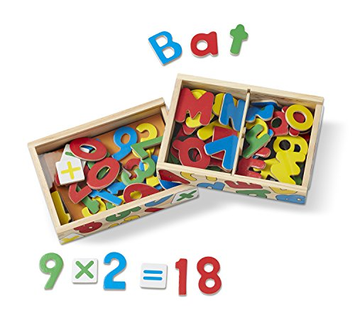 Melissa & Doug Deluxe Magnetic Letters and Numbers Set With 89 Wooden Magnets (Wooden Number Set compare prices)