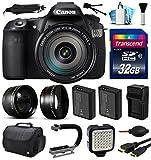 Canon EOS 60D SLR Digital Camera w EFS 18-200mm IS Lens (32GB Essential Bundle)