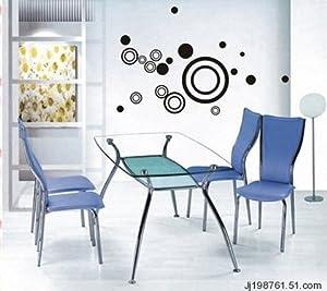 Vinilo decorativo pegatina pared, cristal, puerta (Varios colores a elegir)-formas circulares   Más información y revisión del cliente