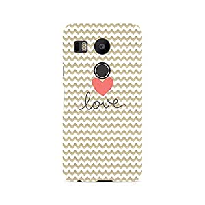 Ebby Golden Chevron Love Premium Printed Case For LG Nexus 5X