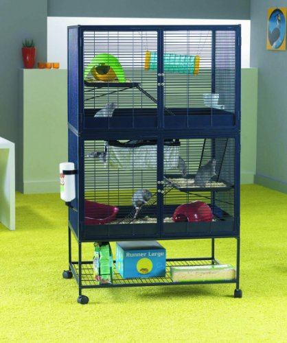 Savic Suite Royale Navy Blue Small Animal Cage 95 x 63 x 159 cm