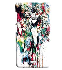 Blue Throat Flower Blow Paint Printed Designer Back Cover/Case For Micromax Unite2 (A106)