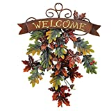Falling Leaves Welcome Door Decor