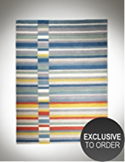 Conran Modern Multi-Striped 100% Wool Rug