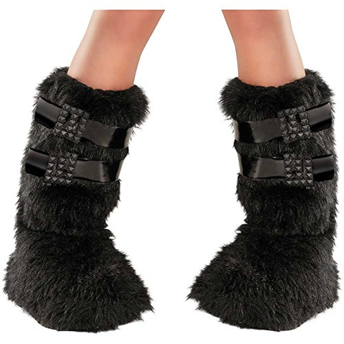 Kids Buckled Furry Boot Covers - One Size