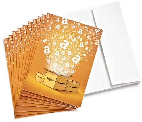 Amazon.Com $25 Gift Cards - 10-Pack With Greeting Cards (Classic) front-818969