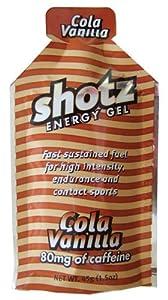shotzショッツエナジージェル(カーボショッツ) コーラバニラ味 (45g×10個)