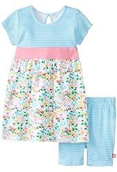 Zutano Baby Girls' Elephantasia Banded Waist Dress and Bike Short Set
