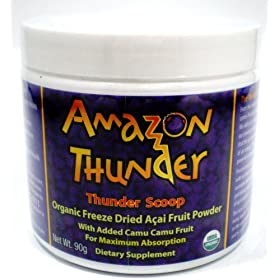 100% Pure Acai Fruit Powder with Camu Camu- By Amazon Thunder - 90g - Powerful Antioxidant