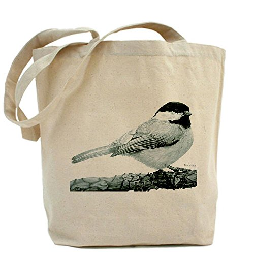 CafePress - Chickadee Tote Bag - Natural Canvas Tote Bag, Cloth Shopping Bag