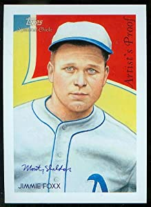 Jimmie Foxx 2010 Topps Diamond Stars National Chicle Painting Cabinet Artist Proof... by National Chicle Diamond Stars