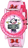Disney Kids' Minnie Mouse MINKD550 Digital Display Quartz Pink Watch with Pencil Tin