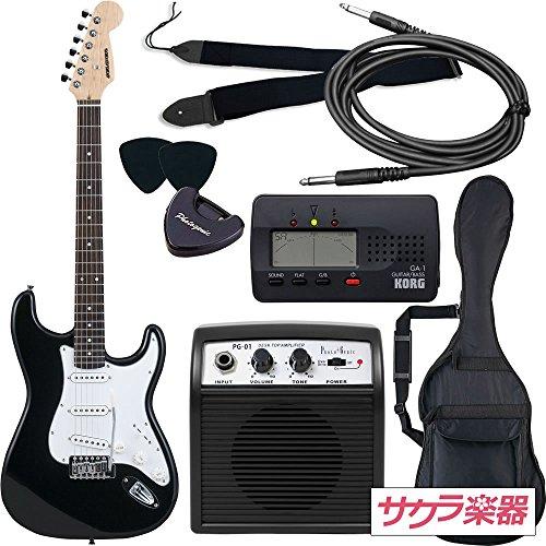 SELDER セルダー エレキギター ストラトキャスタータイプ サクラ楽器オリジナル ST-16/BK 初心者入門ベーシックセット