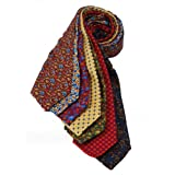 7Piece 100% Pure Silk Ties. Made in England. (119D)RRP£139.99