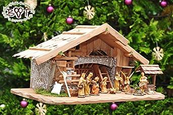 Wooden christmas crib high quality premium figures crib - Modele de creche de noel en bois a fabriquer ...