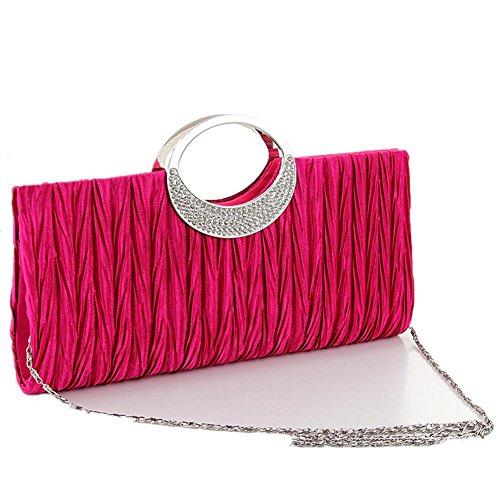 sera-borsa-donna-raso-plissettato-nobile-moda-borsa-chainshoulder-rose-red-spot