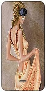 Snoogg Elegant Woman 2623 Designer Protective Back Case Cover For Micromax Un...