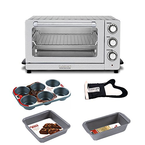 Cuisinart Tob-60N Toaster Oven Broiler With Convection With Deluxe Baking Accessory Kit