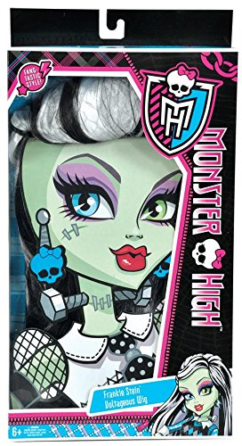 Monster High Frankie Stein Wig, Black and White - 1
