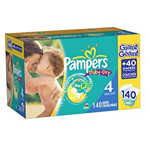 Pampers Baby Dry Diapers Size 4 Giant Pack, 140 Count