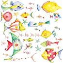 Roommates Rmk1179scs Sea Creatures Peel Stick Wall Decals