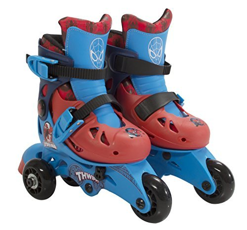 PlayWheels Ultimate Spider-Man Kids Convertible 2-in-1 Skates - Junior Size 6-9 by PlayWheels
