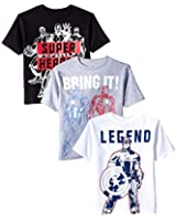 Marvel Boys' Avengers Tee (Pack of 3)
