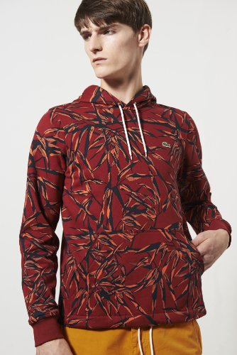 Live Leaf Printed Fleece Hoody Sweatshirt