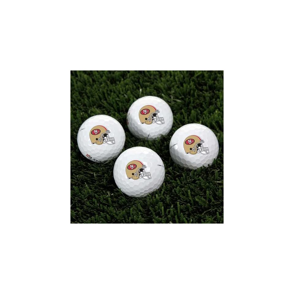 Wilson San Francisco 49ers 4 Pack Team Helmet Golf Balls