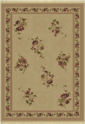 Shaw Living Kathy Ireland Home Essentials 3-Foot 10-Inch by 5-Foot 7-Inch Rug in Mayfair Pattern, Natural