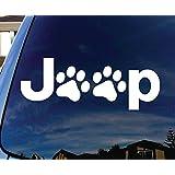 "Jeep Wrangler Cat Dog Paw Print Car Window Vinyl Decal Sticker 5"" Wide"