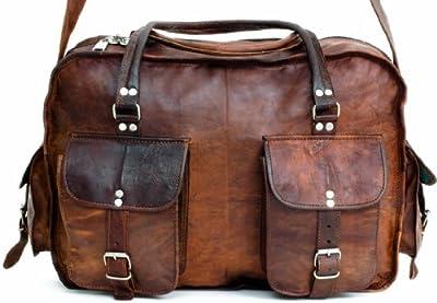 Gusti Genuine Leather Vintage Weekend Travel Sports Gym Leisure Bag Holdall R35b by Gusti Leder