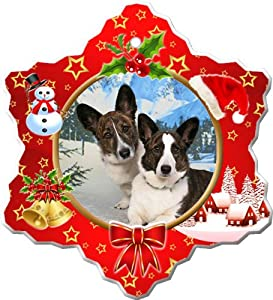 Cardigan Welsh Corgi Porcelain Holiday Ornament