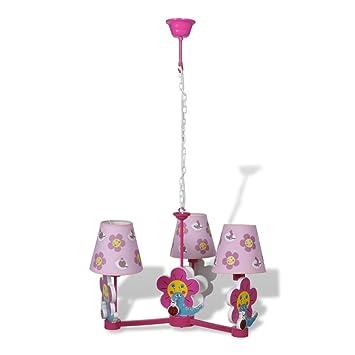 lampe de plafond luminaire chambre chambre b b mod le 3 3 abat jours fleurs plafonnier. Black Bedroom Furniture Sets. Home Design Ideas