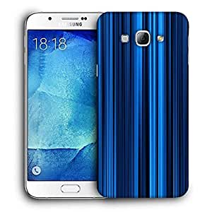 Snoogg Blue Rays Printed Protective Phone Back Case Cover For Samsung Galaxy A8