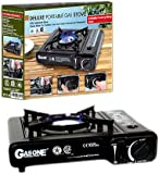GasOne GS-3000 Portable Gas Stove with Color Box, Black
