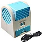 Tools & More Hotenergy Mini Small Fan Cooling Portable Desktop Dual Bladeless Air Conditioner USB New Model: